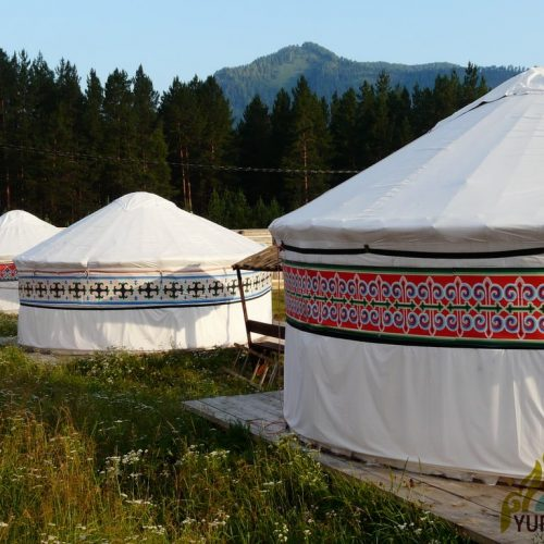 Yurt camp in the mountains. Yurt kit Gorny